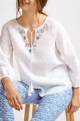 Fes Beaded Linen Blouse