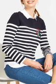 Applique Stripe Jumper