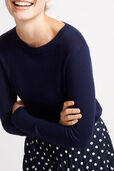 Laurina Crew Neck Step Hem