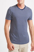 Stripe Standard Fit Cotton Tee