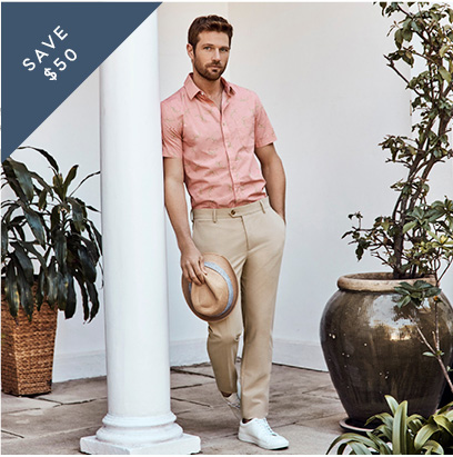 Buy Any Men's Shirt & Pant Combo | Save $50